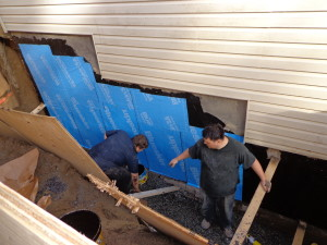Apartments & Townhouses are Often need waterproofing and  Foundation Repair